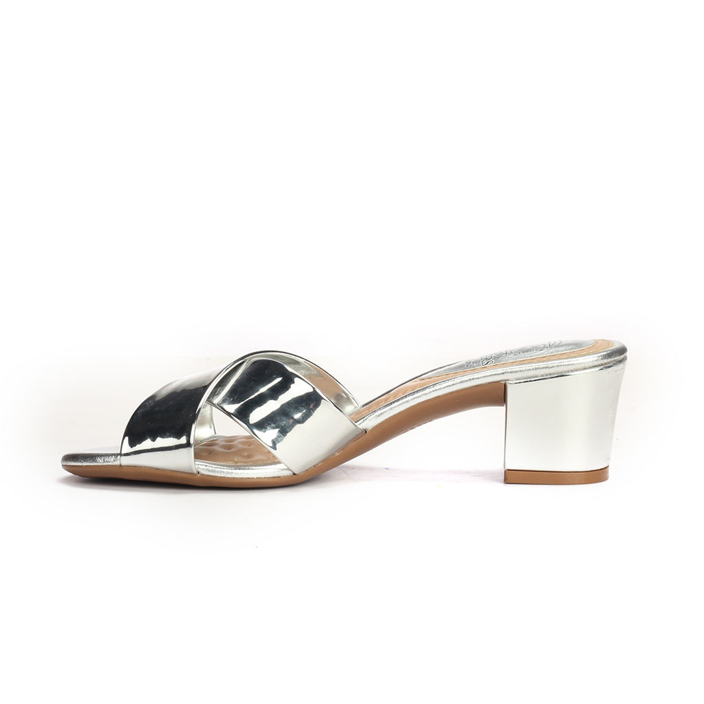 Women's Sandals - Silver - Mules - Pavers England