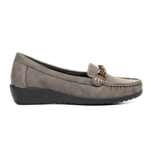 Women's Slip-on Shoe-Grey - Full Shoes - Pavers England