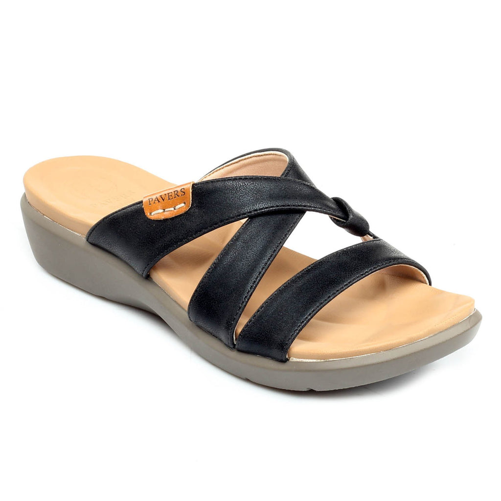 Women's Sandal - Black - Open Mules - Pavers England