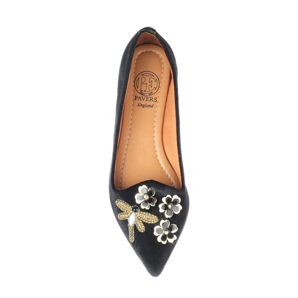 Women's Shoe - Black - Pumps - Pavers England