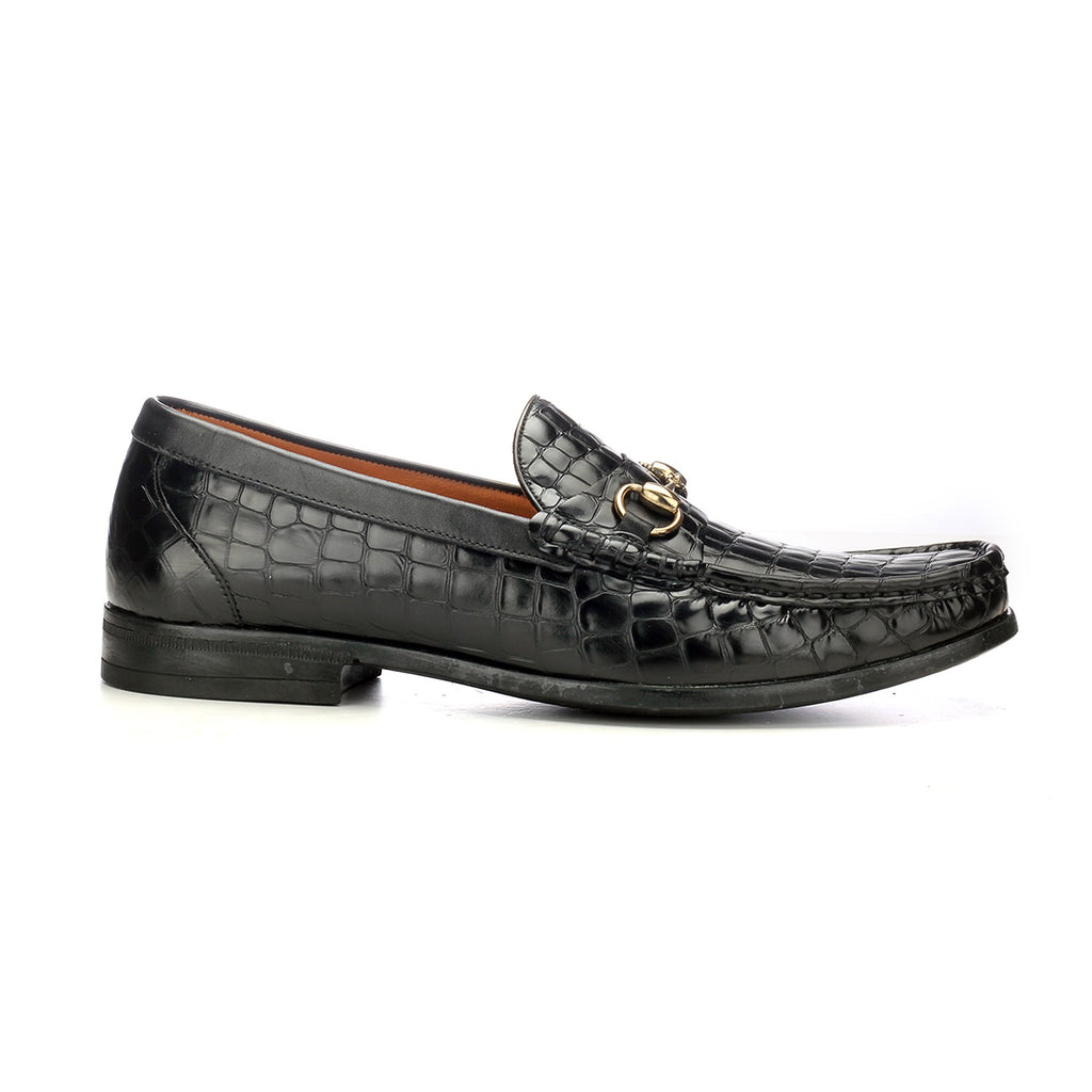 Leather Bit Loafers with Metal Embellishment - Slip ons - Pavers England