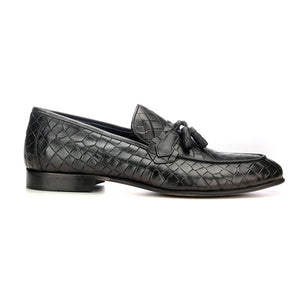 Apron Toe Leather Tassel Loafers - Slipon - Pavers England