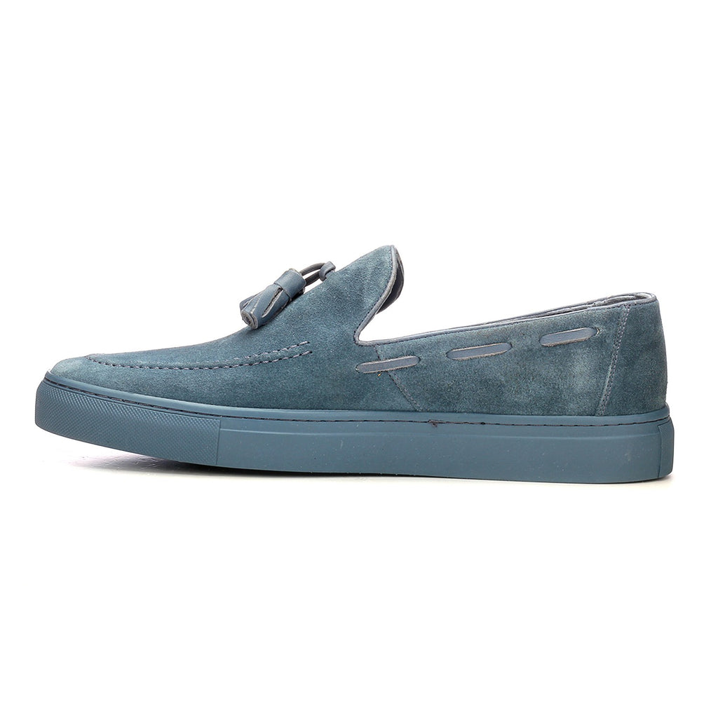 Suede Tassel Loafers - Blue - Smart Casuals - Pavers England