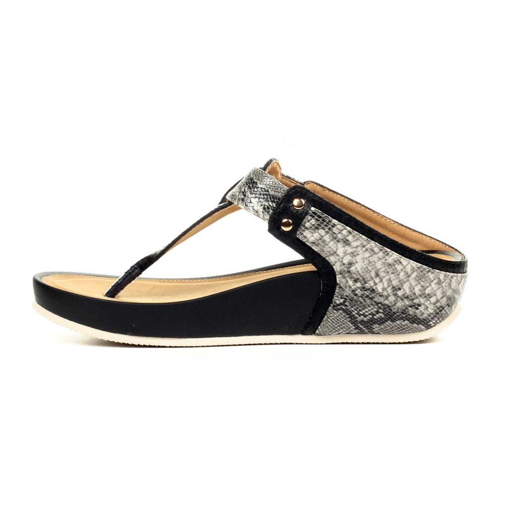 Casual T-Strap Toeposts for Women-Black - Toeposts - Pavers England
