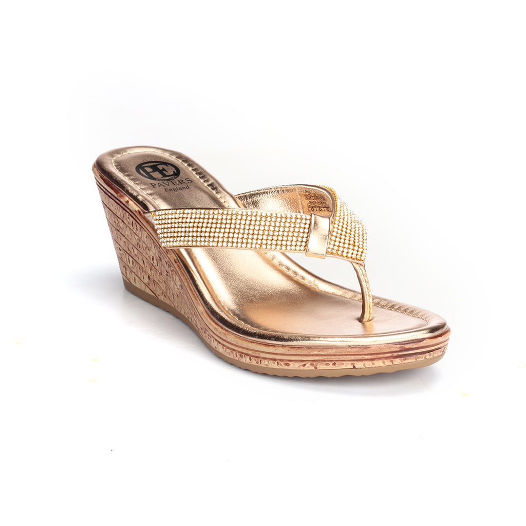 Trendy Wedges for Women - Pink - Toeposts - Pavers England