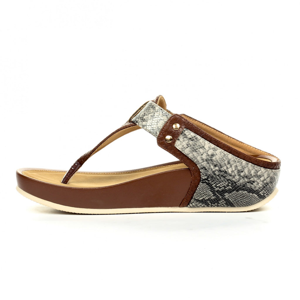 Casual T-Strap Toeposts for Women-Brown - Toeposts - Pavers England