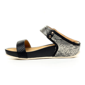 Metal Embellished Mules for Women-Black - Mules - Pavers England