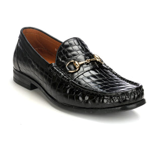 Leather Bit Loafers with Metal Embellishment - Wedding & Occasion - Pavers England
