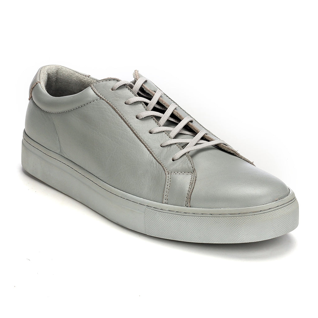 Leather Lace ups for Men -  Grey - Sneakers - Pavers England