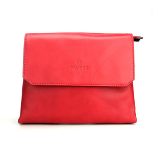 Red Leather Sling Bag for Women - Sling Bags - Pavers England