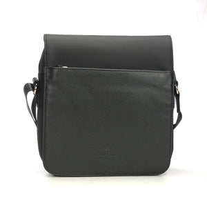 Lightweight Black/ Brown Casual Sling Bag For Men - Mens - Pavers England