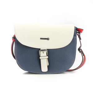 Stylish Blue and White Leather Sling Bag for Women - Sling Bags - Pavers England