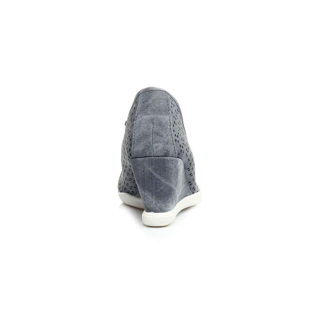 Women's Half Shoe - Navy - Full Shoes - Pavers England