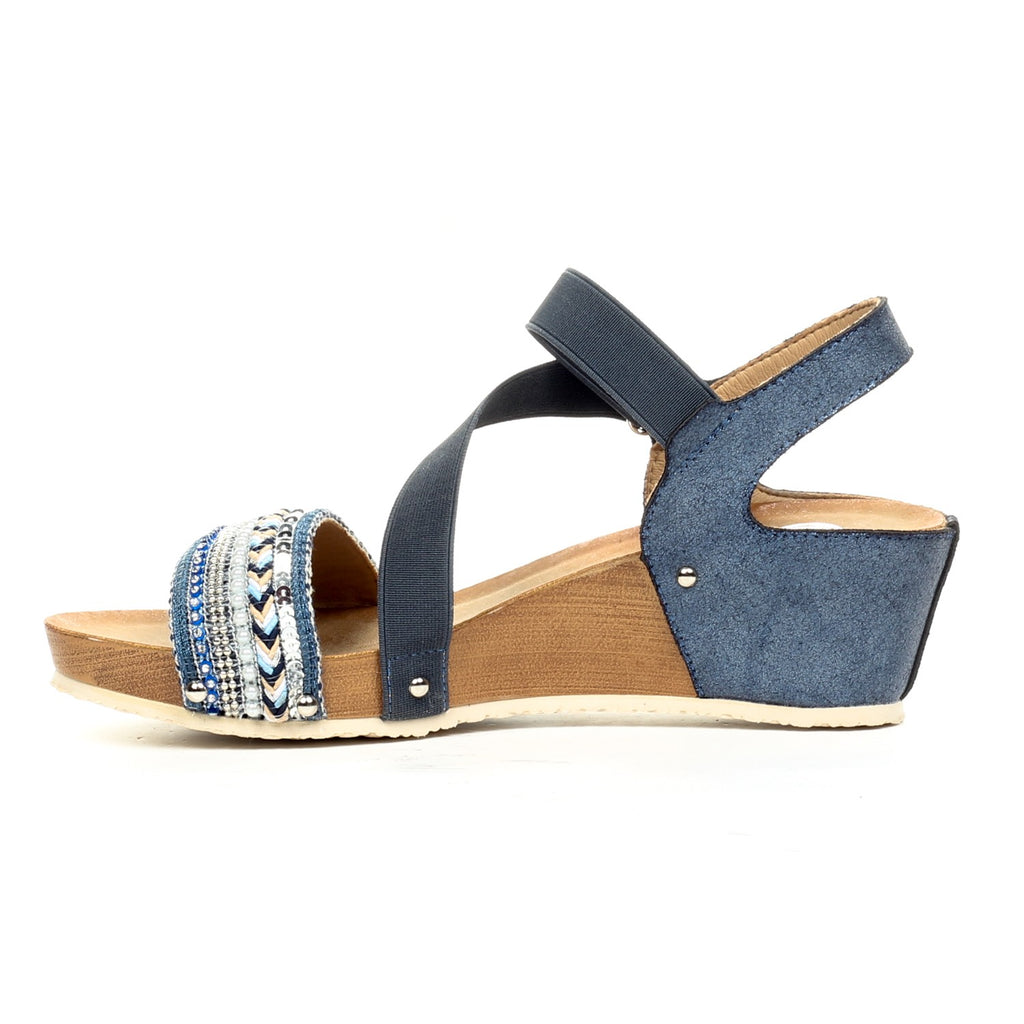Jewel Embellished Sandals with Ankle Strap - Sandal - Pavers England
