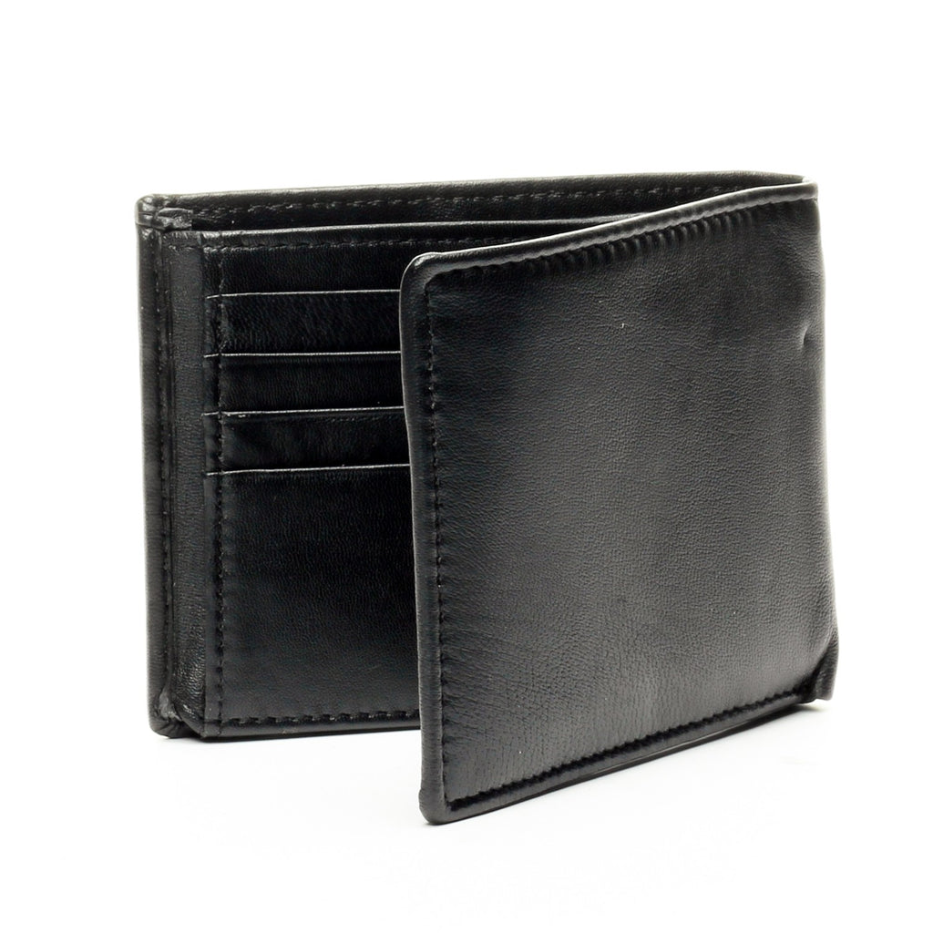 Smart Leather Wallet - Black - Bags & Accessories - Pavers England