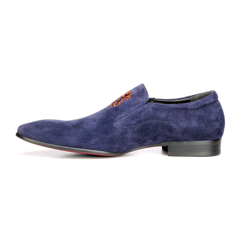 Men's Slip-on Shoe - Navy - Wedding & Occasion - Pavers England