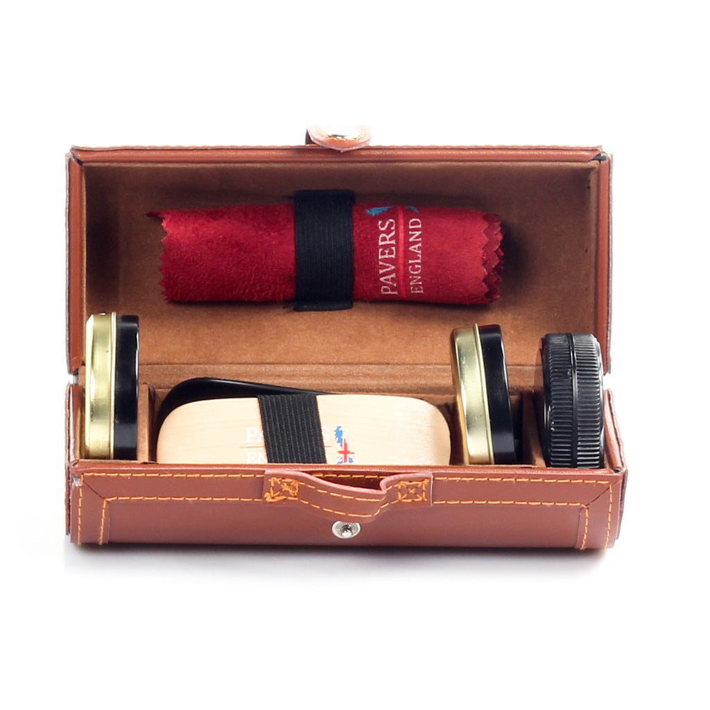 Travel Unisex Shoe Care Kit - Brown - Shoe Care - Pavers England