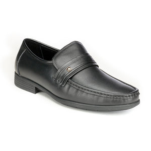 Formal Leather Slip-on Shoes - Black - Formal Loafers - Pavers England