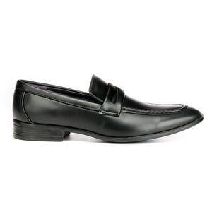 Formal Penny Loafers for Men - Black - Pavers England