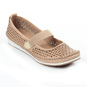 Women's Full Shoe - Beige - Full Shoes - Pavers England