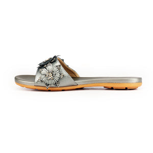 Jewel Embellished Low Heel Mules for Women - Mules - Pavers England