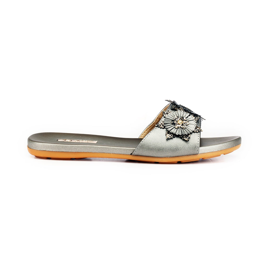 Jewel Embellished Low Heel Mules for Women - Mule - Pavers England