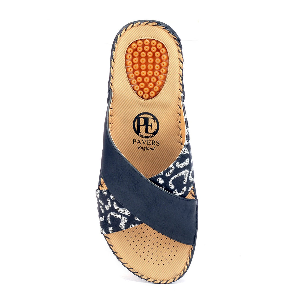 Textured Mules for Women - Open Mules - Pavers England