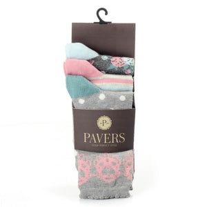 3-Pair Women Cotton Socks - Bags & Accessories - Pavers England