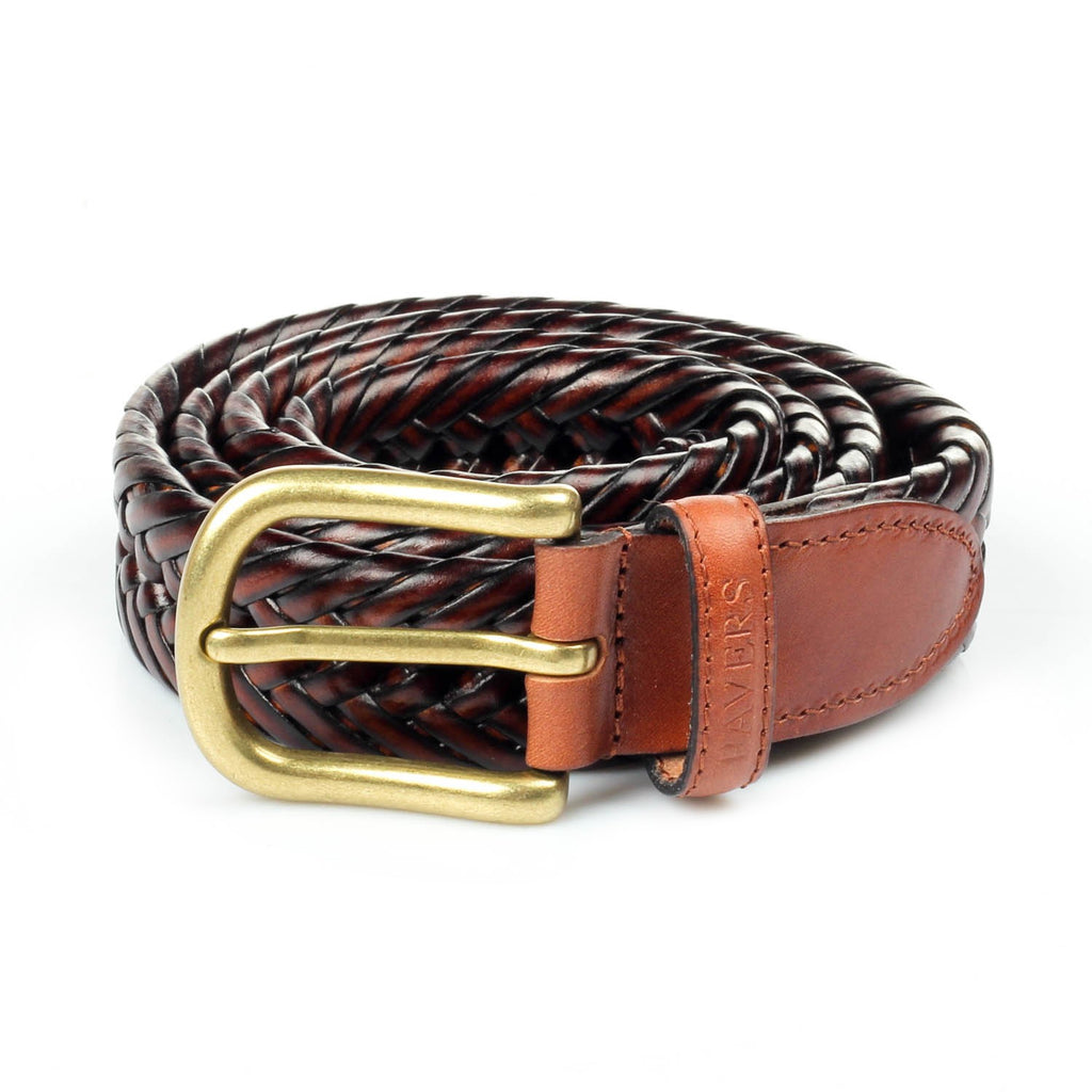 Men's Leather Belt - Brown - Bags & Accessories - Pavers England