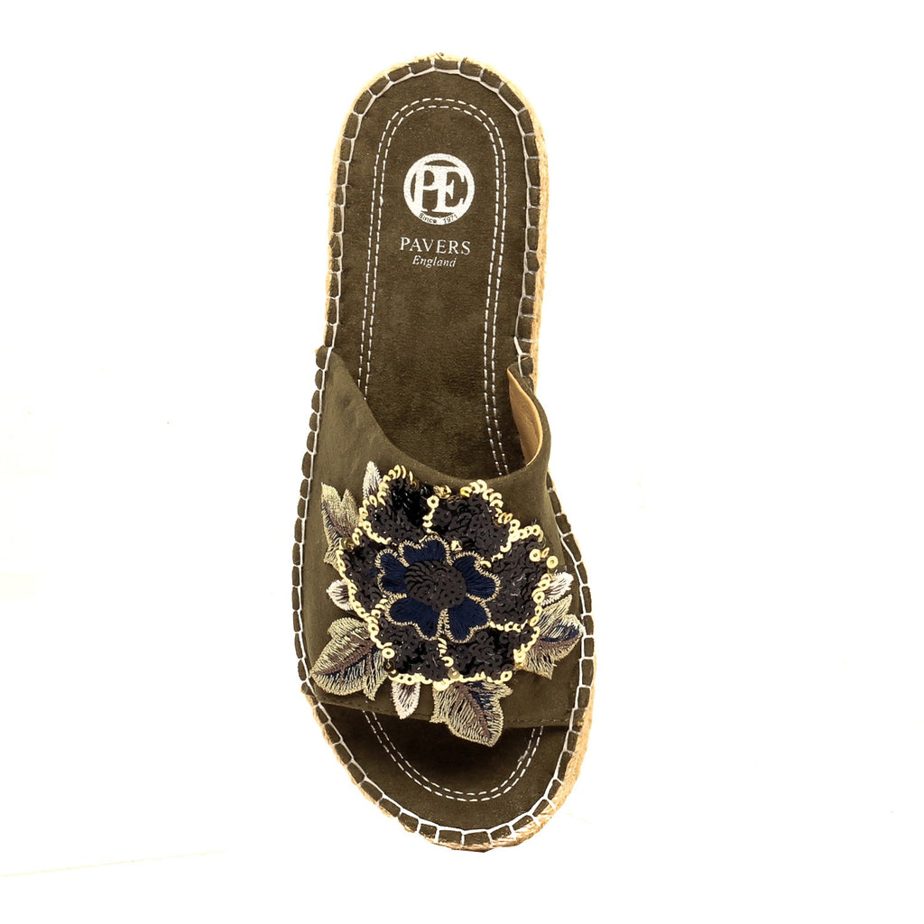 Fabric Embellished Mules for Women - Mules - Pavers England