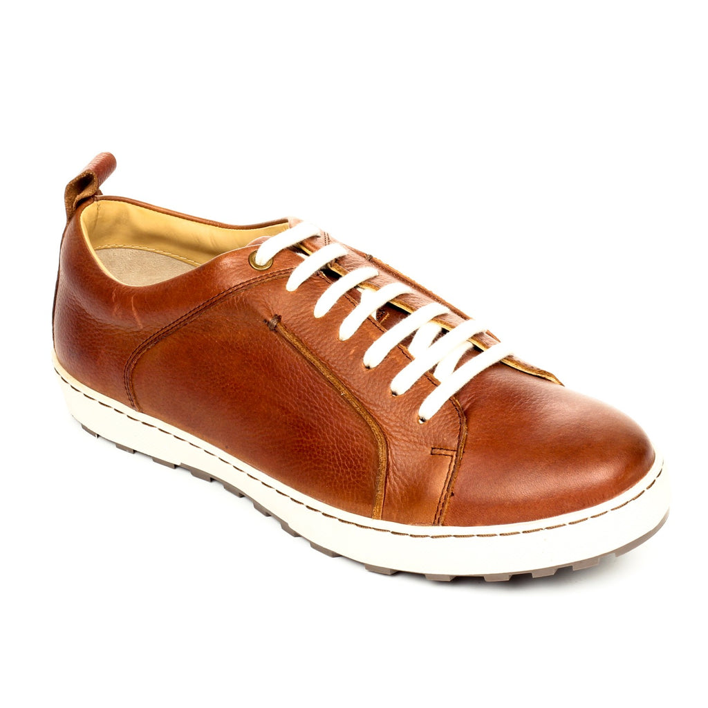 Men's Shoe Lace-up - Brown - Sneakers - Pavers England