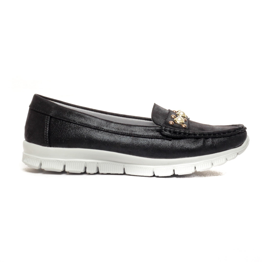 Jewel Embellished Loafers for Women - Full Shoes - Pavers England