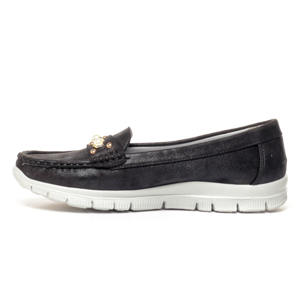 Jewel Embellished Loafers for Women - Casual Shoe - Pavers England