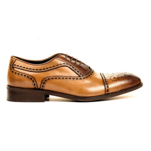 Men's Formal Shoe-Taupe - Lace ups - Pavers England