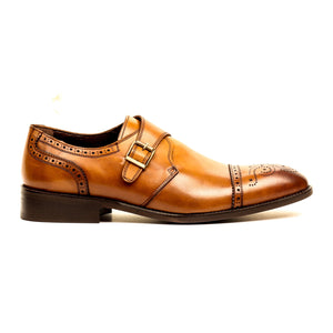 Men's Shoe - Tan - Wedding & Occasion - Pavers England