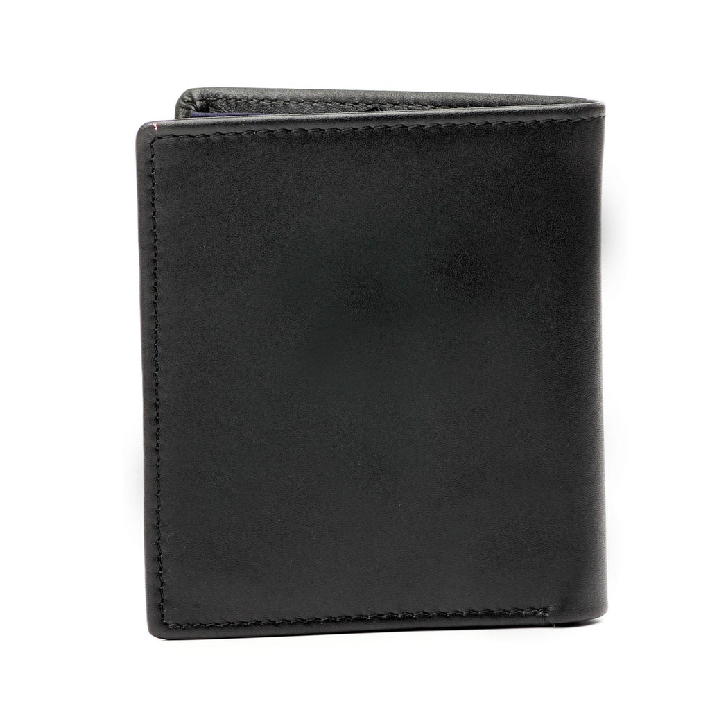 Black Leather Mini Wallet for Men - Wallets - Pavers England