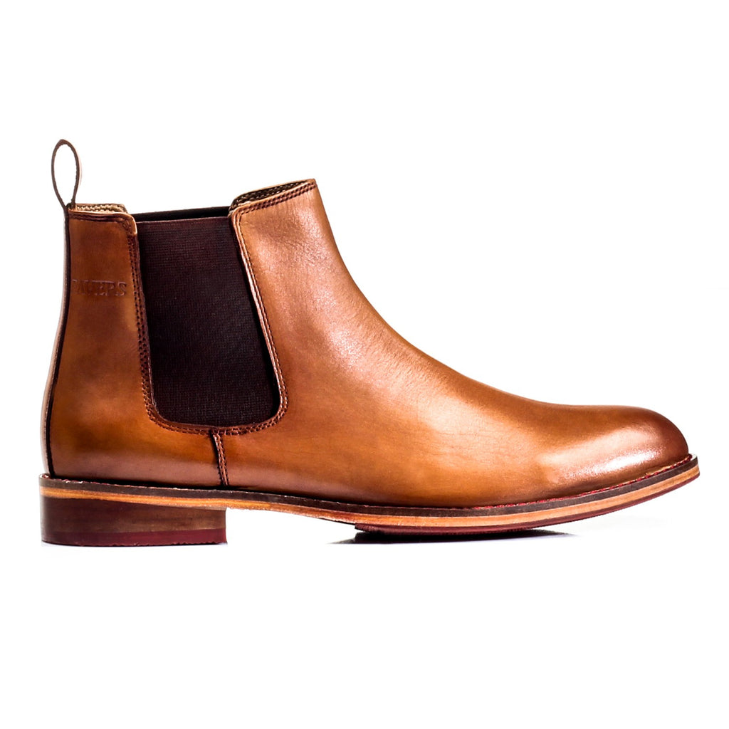 Men's Ankle Boot - Tan - Boots - Pavers England