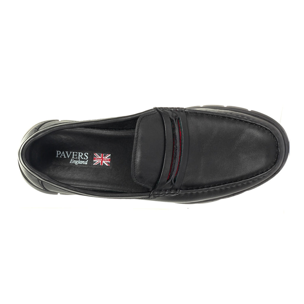 Formal Penny Loafers for Men - Black - Formal Loafers - Pavers England