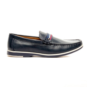 Cut & Sew Casual Loafers - Navy - Moccasins - Pavers England