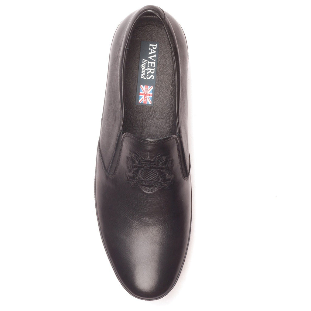 Men's Slip-on Shoe - Black - Sneakers - Pavers England