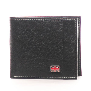 Black Textured Leather Wallet for Men - Wallets - Pavers England