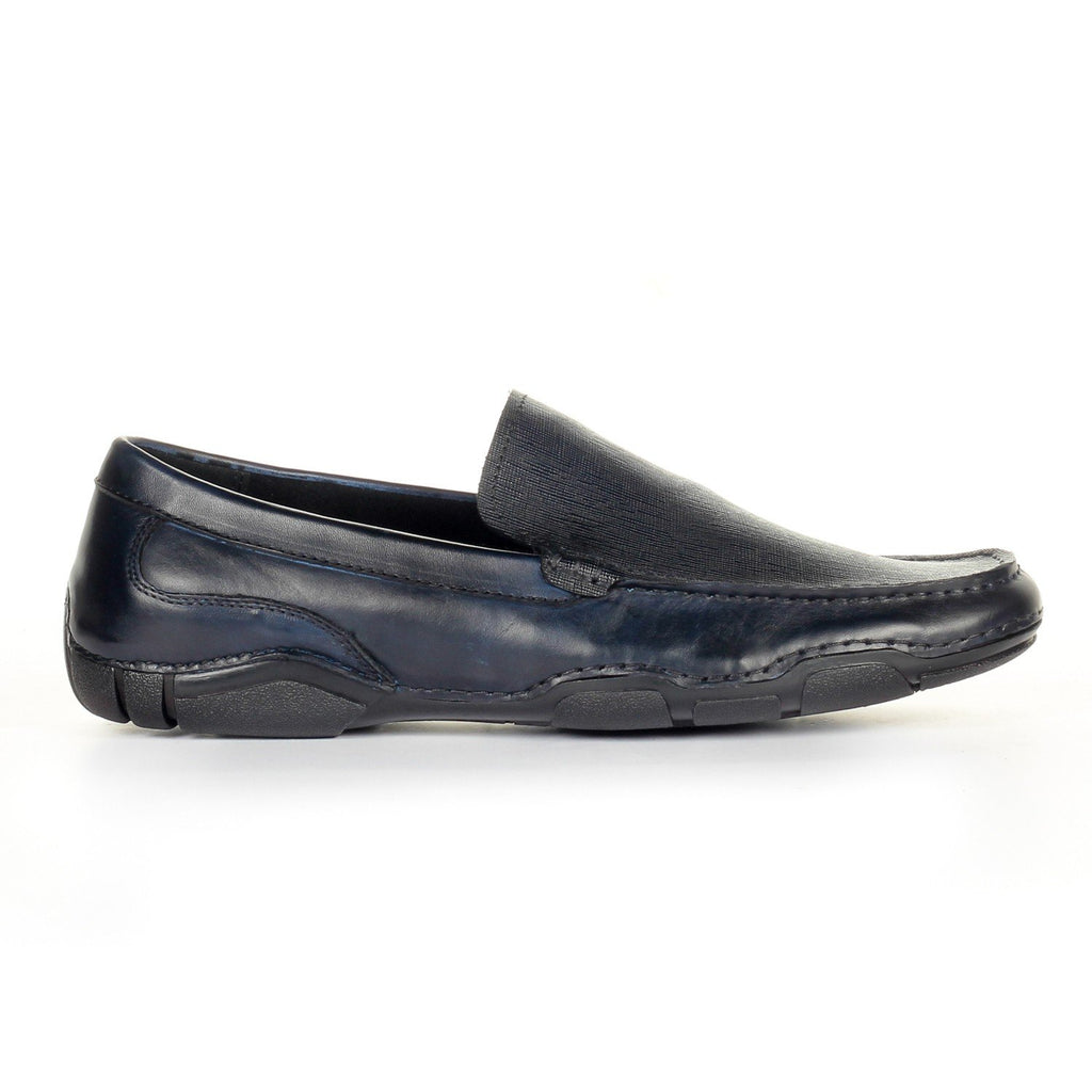 Men's Formal Shoe - Navy - Moccasins - Pavers England