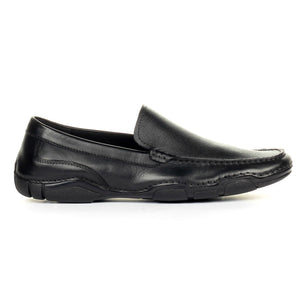 Men's Formal Shoe - Black - Moccasins - Pavers England