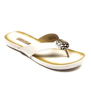Trendy Black Slippers for Women-White - Toeposts - Pavers England
