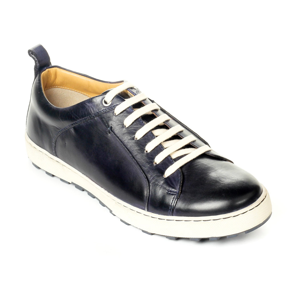Men's Shoe Lace-up - Navy - Sneakers - Pavers England