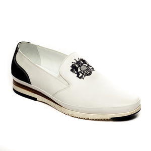 Men's Loafers - White - Comfort Fits - Pavers England