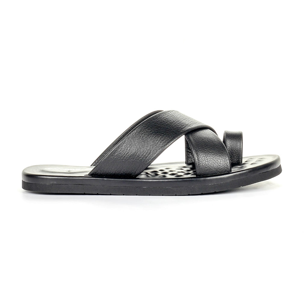 Men's Slip-on Casual Sandals-Black - Toeposts - Pavers England