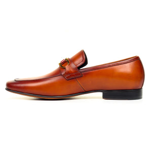 Men's Slip-on Shoe - Tan - Formal Loafers - Pavers England