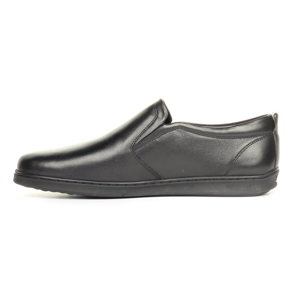 Classic Formal Black Leather Slip-on - Slip ons - Pavers England