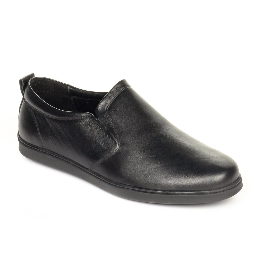 Classic Formal Black Leather Slip-on - Slipon - Pavers England
